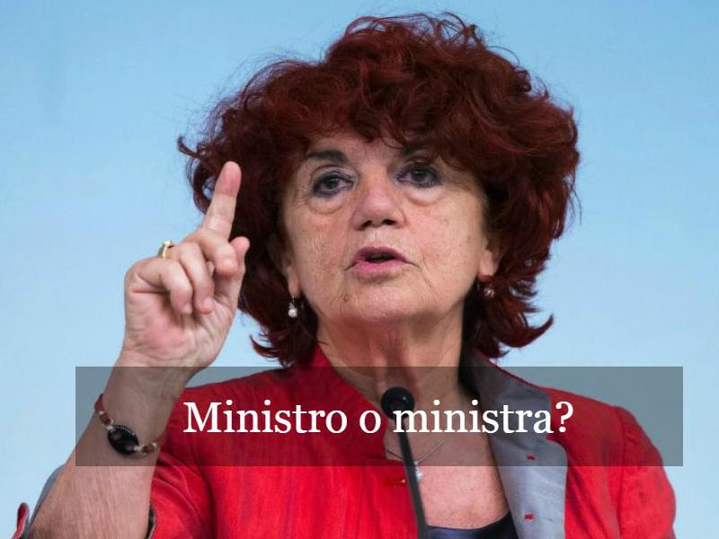Ministro o ministra?