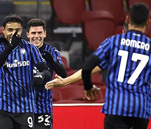 atalanta ajax Champions League Muriel qualificazione ottavi