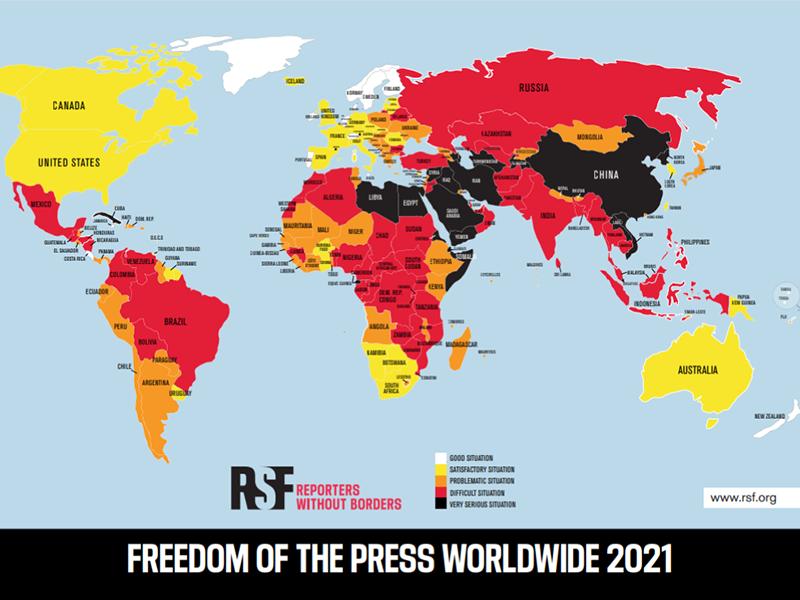 Libertà di stampa, Reporters sans frontières: Italia 20esima in Europa