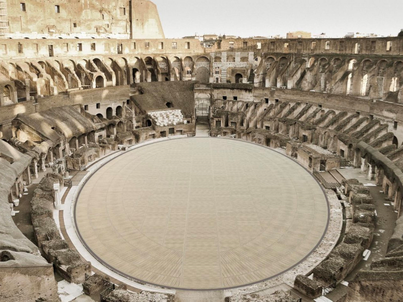 High tech e green, così sarà la nuova arena del Colosseo