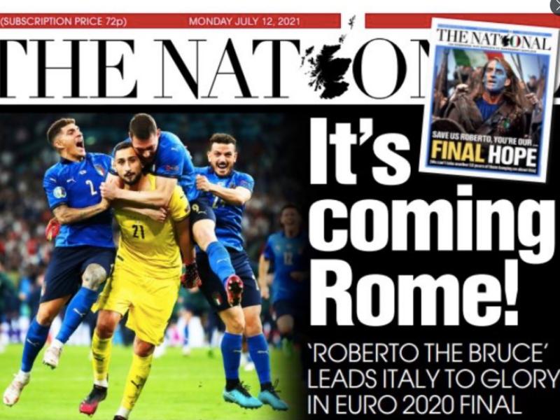 """""""Bravissima"""" e """"Invincibili"""": il trionfo azzurro sui giornali esteri"""